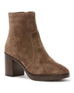 Frye Women's Pewter Joan Campus Short Boots - Round Toe, Dark Grey, hi-res