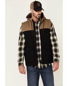 Moonshine Spirit Men's Mt. Hood Color-Block Nylon Quilted Zip-Front Puffer Vest , Black, hi-res