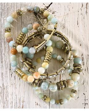 Shyanne Women's Multi-Stretch Beaded Bracelet, Bronze, hi-res