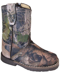 Smoky Mountain Toddler Girls' Autry Western Boots - Square Toe, Camouflage, hi-res