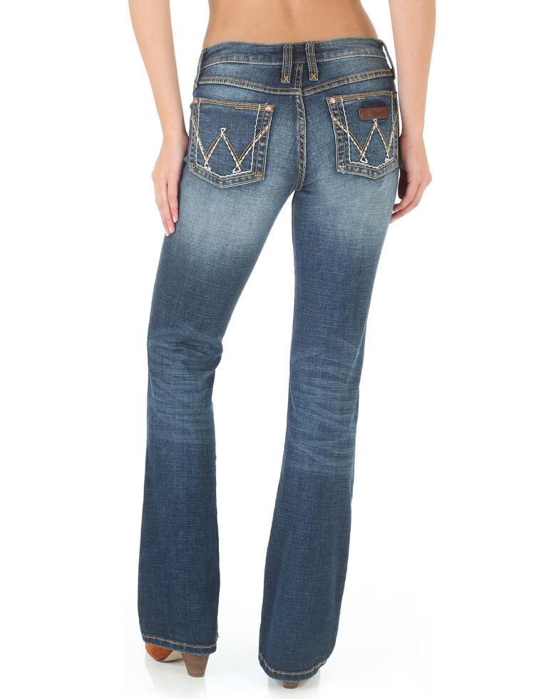 Wrangler Women's Medium Wash Retro Mae Jeans , Blue, hi-res