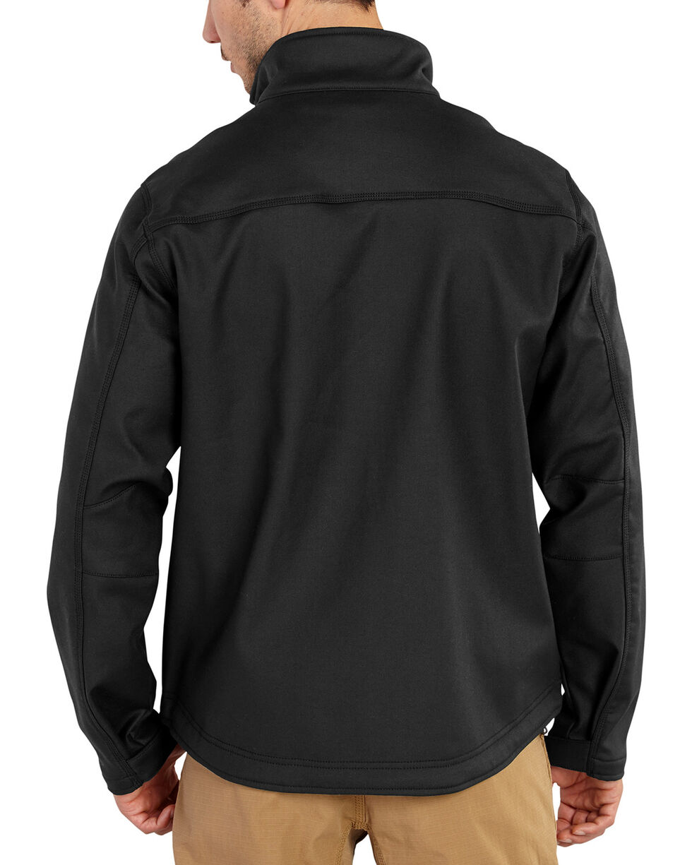 Carhartt Men's Pineville Softshell Jacket - Big & Tall, Black, hi-res