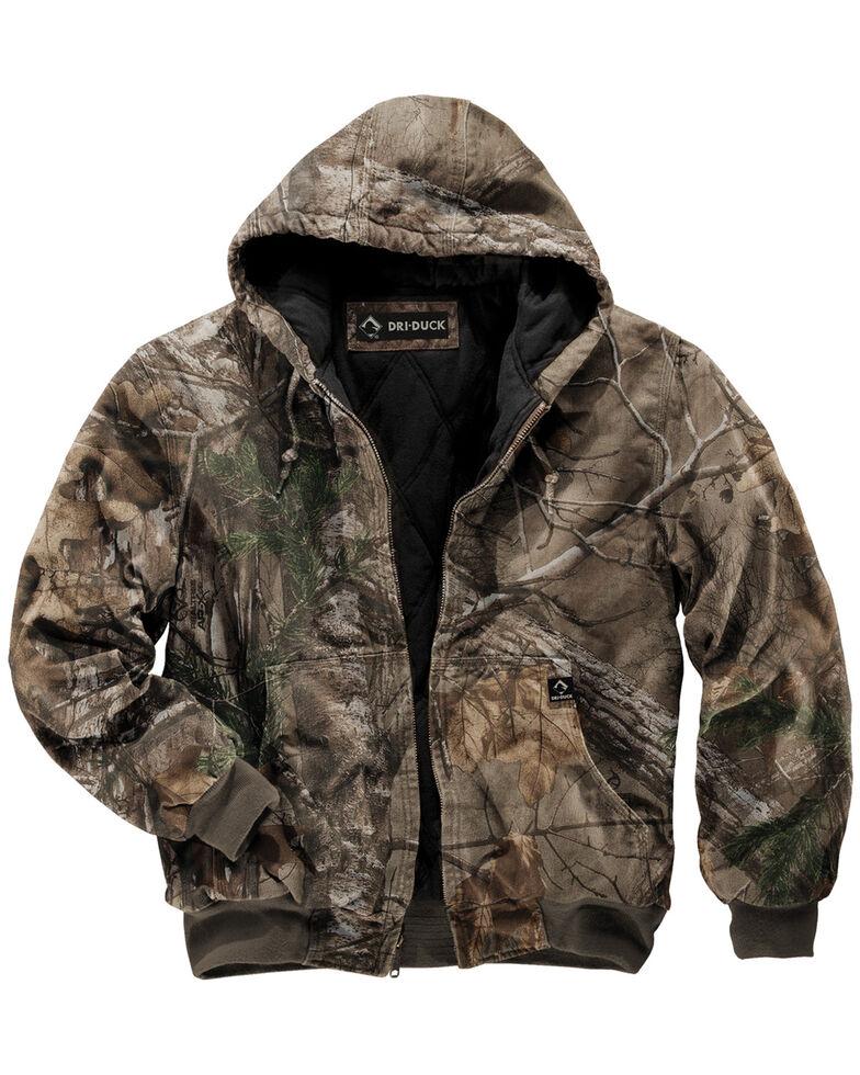Dri Duck Men's Cheyenne Realtree Xtra Camo Hooded Work Jacket , Camouflage, hi-res
