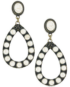 Montana Silversmiths Women's Vintage Mineral Stone Attitude Earrings, No Color, hi-res