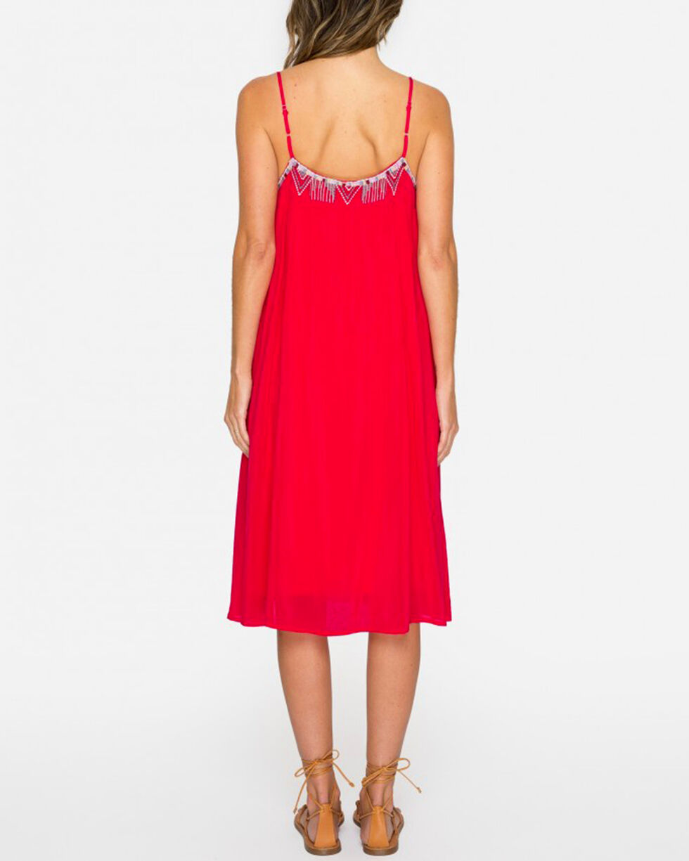 Johnny Was Women's Pomegranate Lisa Babydoll Dress , Bright Pink, hi-res