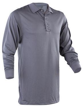 Tru-Spec Men's Dark Grey 24-7 Performance Long Sleeve Polo , Dark Grey, hi-res