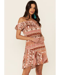 Idyllwind Women's Aztec Made For This Dress, Blush, hi-res