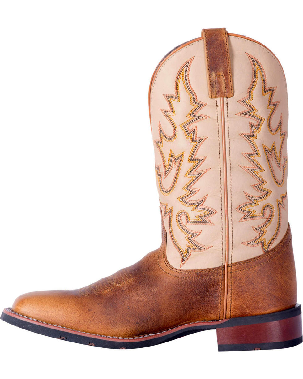 Laredo Men's Heath Distressed Western Boots - Square Toe, Tan, hi-res