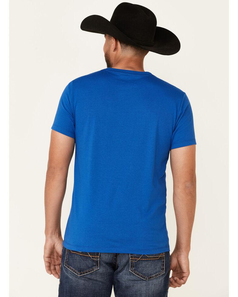 Rock & Roll Denim Men's Texas Flag Graphic Short Sleeve T-Shirt , Royal Blue, hi-res