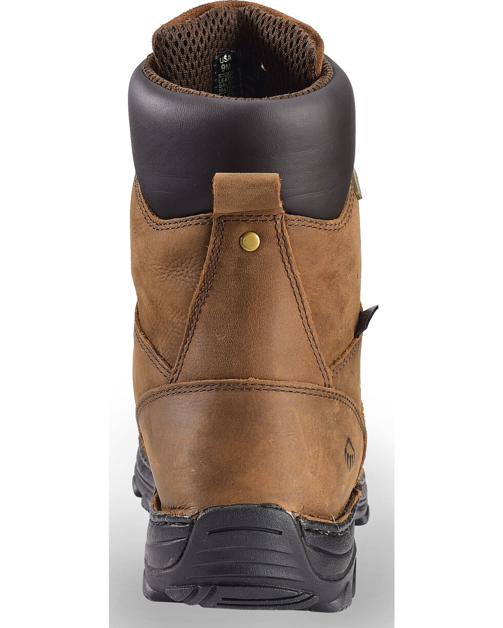 "Wolverine Men's Brown Durbin Waterproof 8"" Work Boots - Steel Toe , Brown, hi-res"