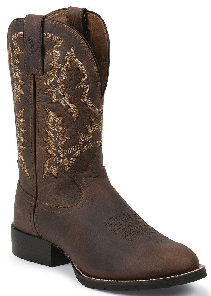 Tony Lama Men's 3R Pitstop Cowboy Boots - Round Toe, Brown, hi-res