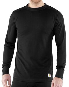 Carhartt Base Force Super-Cold Weather Long Sleeve Shirt - Big & Tall, Black, hi-res