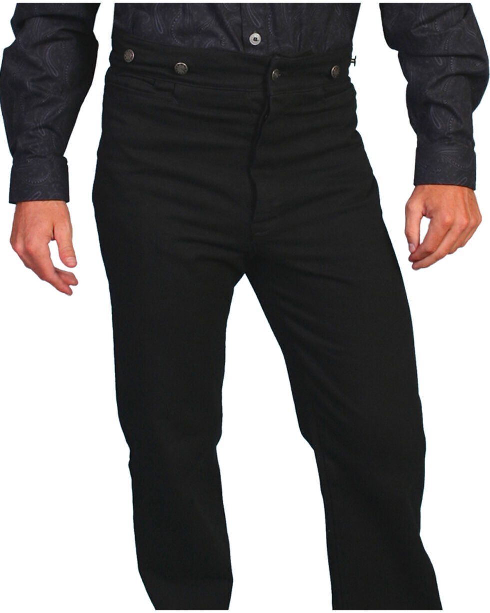 Wahmaker by Scully Canvas Saddle Seat Pants - Tall, Black, hi-res