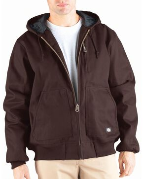 Dickies Rigid Duck Hooded Jacket - Big & Tall, Brown, hi-res