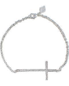 Montana Silversmiths The Straight Path Bright Cross Bracelet, Silver, hi-res