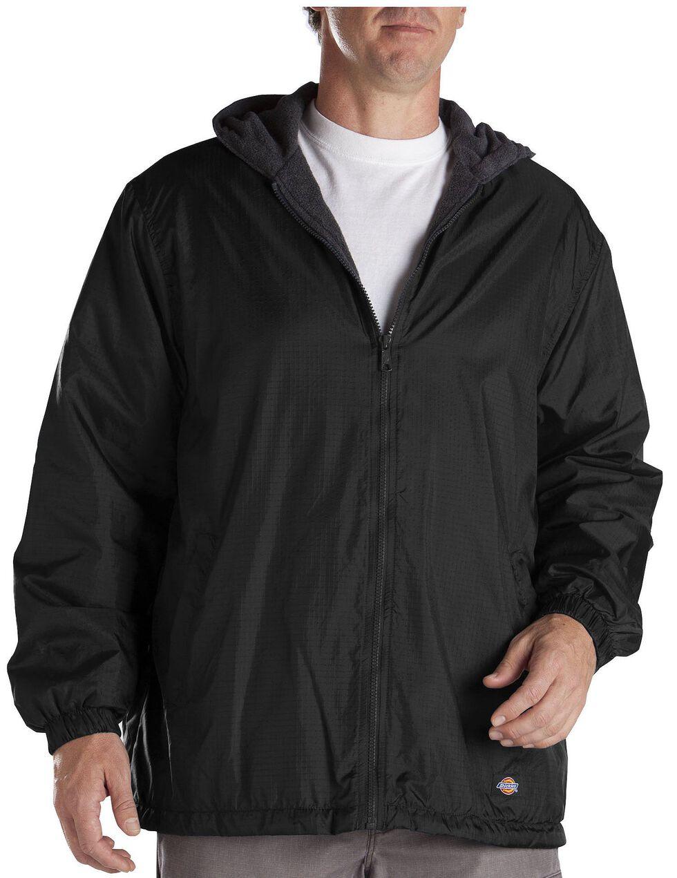 Dickies Fleece Lined Hooded Jacket - Big & Tall, Black, hi-res