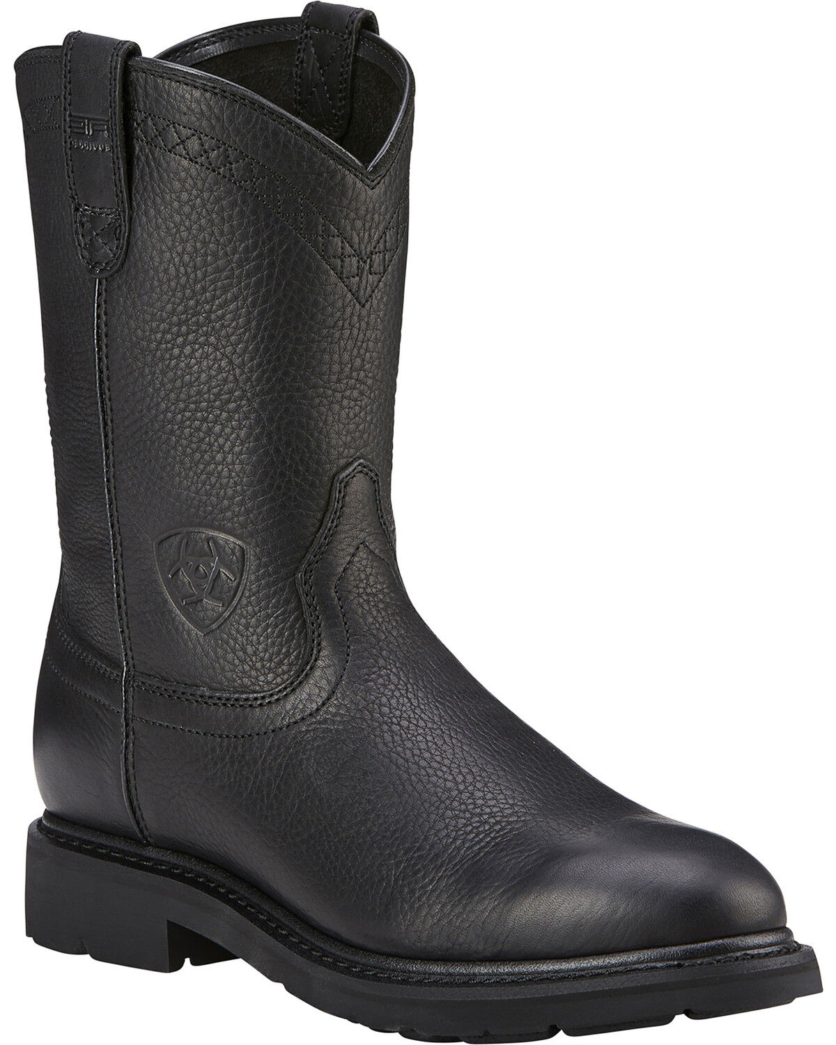 ariat sierra western work boots black hires