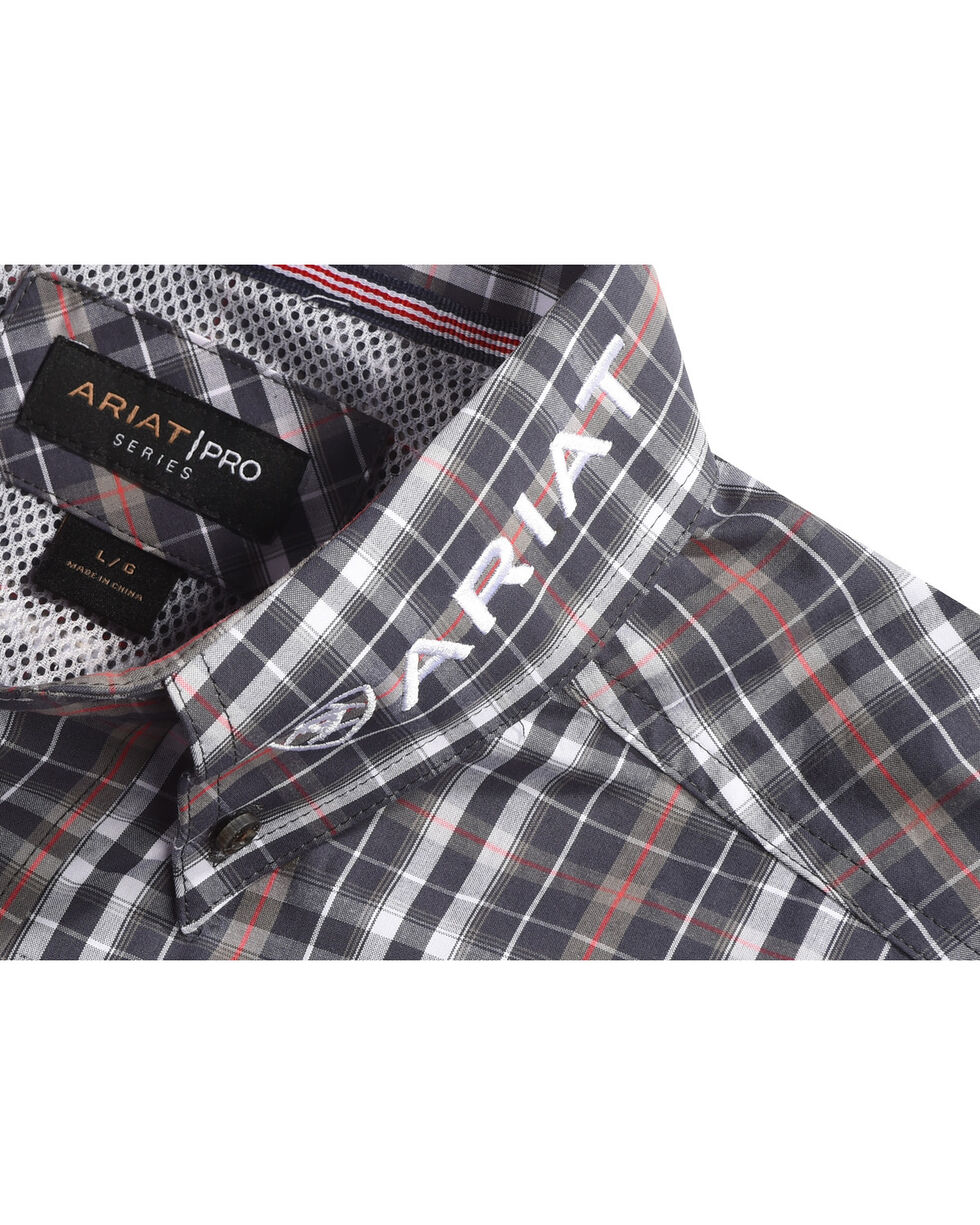 Ariat Men's Antioch Plaid Pro Series Classic Logo Shirt, Grey, hi-res