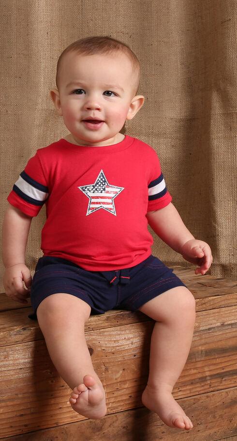 Wrangler Infant/Toddler Boys' Red Star Short Sleeve Tee, Red, hi-res