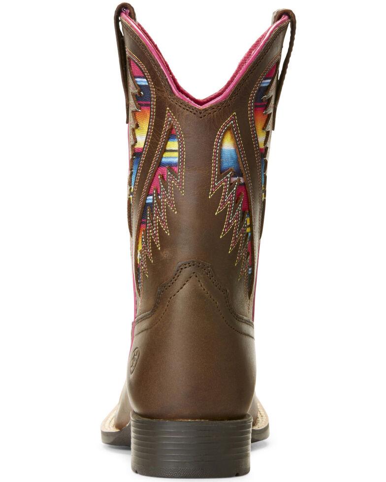 85c42952b4d Ariat Girls' VentTEK Quickdraw Serape Western Boots - Wide Square Toe