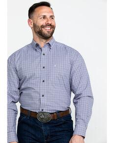 8a6162c0695 Ariat Mens Mo Stretch Small Plaid Long Sleeve Western Shirt - Big   Tall