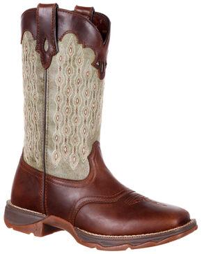 Durango Women's Lady Rebel Saddle Western Boots - Square Toe, Chocolate, hi-res