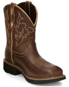 Justin Women's Reamy Waterproof Work Boots - Nano Composite Toe, Brown, hi-res