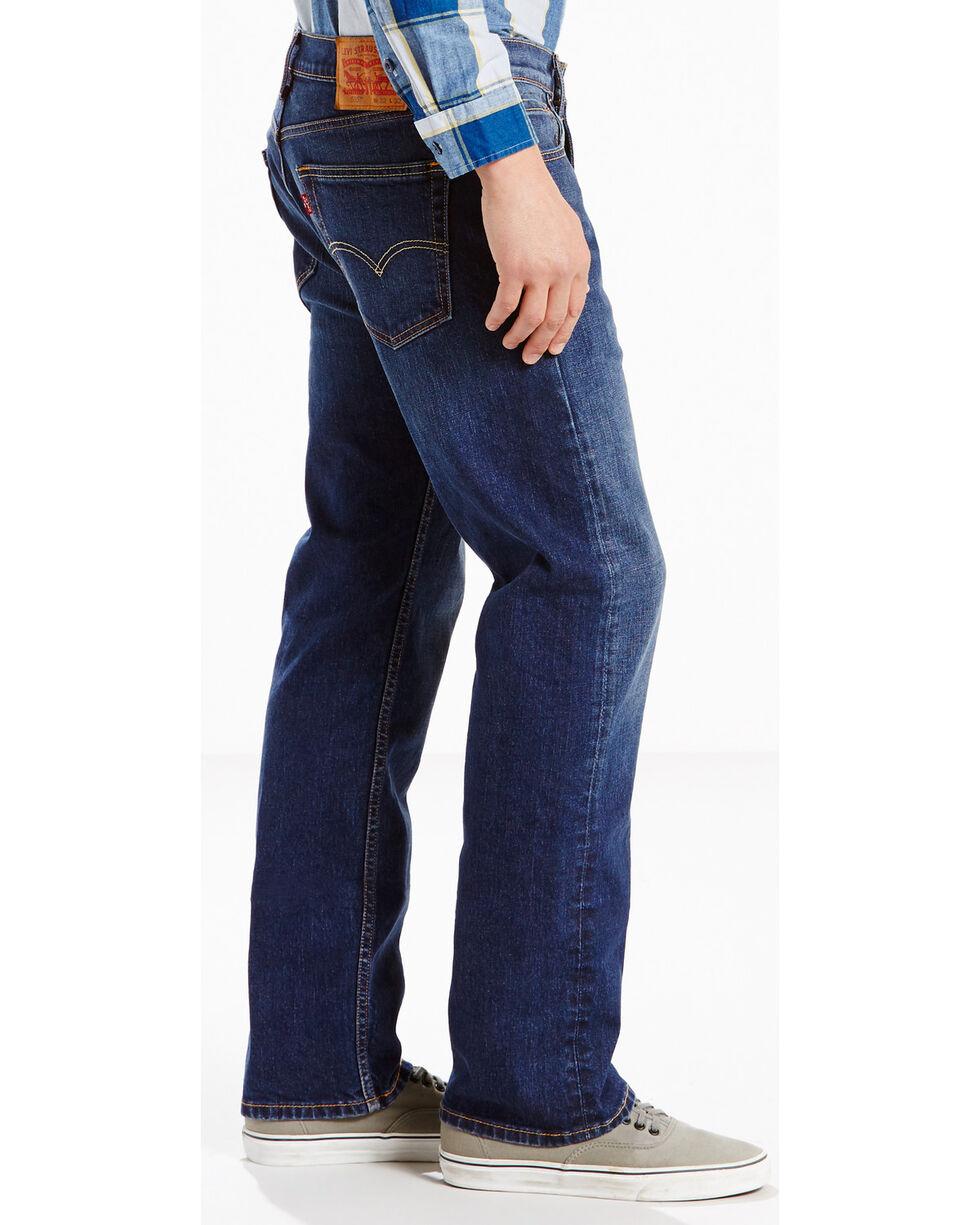 Levis Men's Strauss 505 Regular Fit Jeans - Straight Leg , Indigo, hi-res