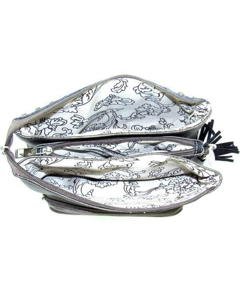Savana Women's Patchwork Crossbody Bag, Grey, hi-res