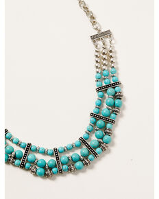 Shyanne Women's Midnight Sky Layered Turquoise Bead Set, Silver, hi-res