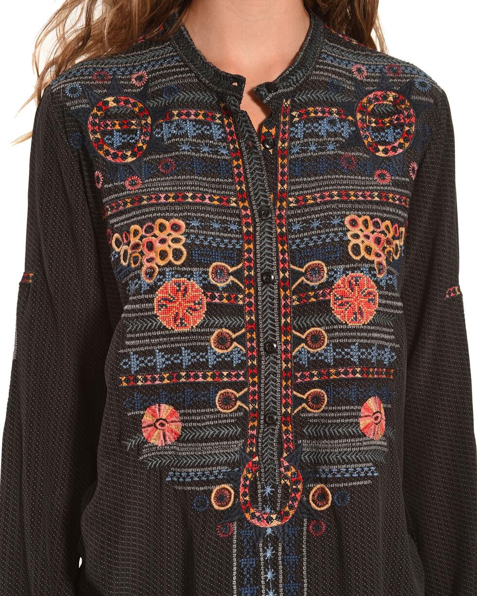 Johnny Was Women's Nomeo Silk Blouse, Multi, hi-res
