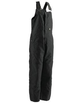 Berne Brown Duck Deluxe Insulated Bib Overalls - 1XBig, Black, hi-res