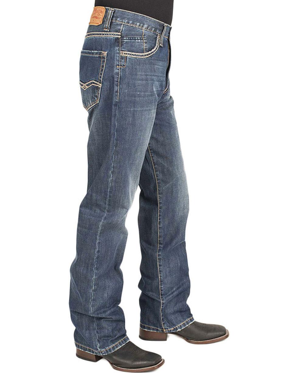 Stetson Men's Modern Fit Boot Cut Jeans, Blue, hi-res