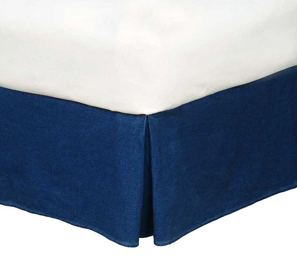 Karin Maki Denim Full Size Bedskirt, Denim, hi-res