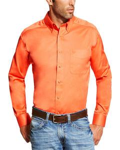 Ariat Men's Camelia Solid Twill Shirt, Red, hi-res