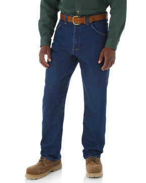 Wrangler Jeans Men's Riggs Workwear Relaxed Carpenter Work Jeans- Big  , Blue, hi-res