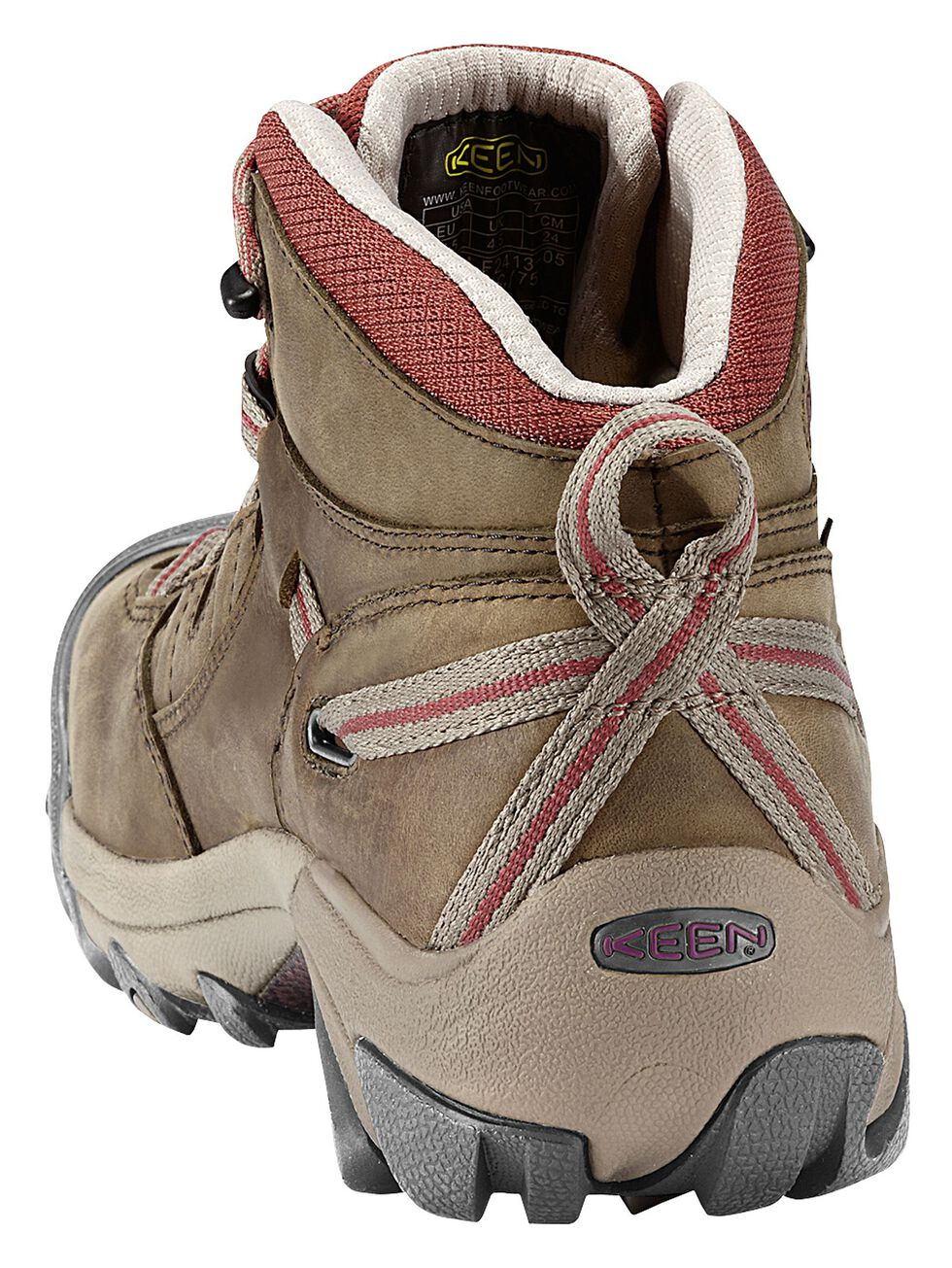 Keen Women's Detroit Mid Waterproof Boots - Steel Toe, Olive, hi-res