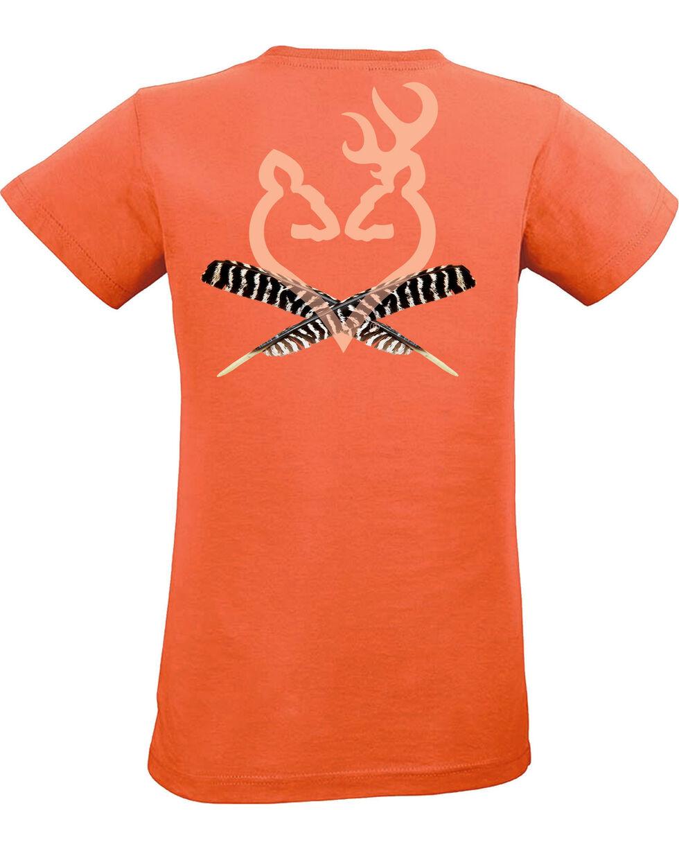 Browning Women's Turkey Feather Buckheart Tee , Light Orange, hi-res