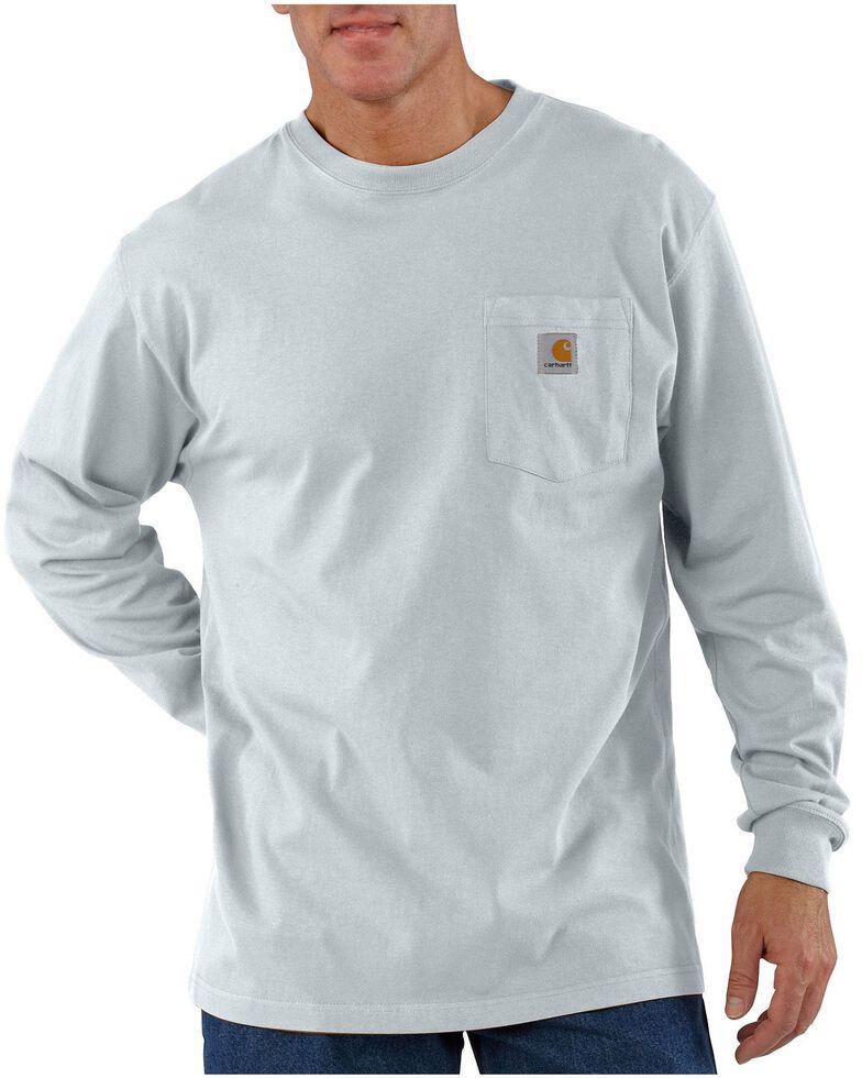 Carhartt Men's Pocket Long Sleeve Work Shirt - Tall, Ash, hi-res