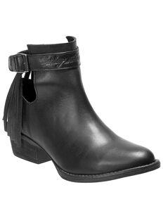 Harley Davidson Women's Amory Moto Boots - Round Toe, Black, hi-res