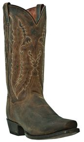 Dan Post Men's Earp Cowboy Boots - Square Toe, Bay Apache, hi-res