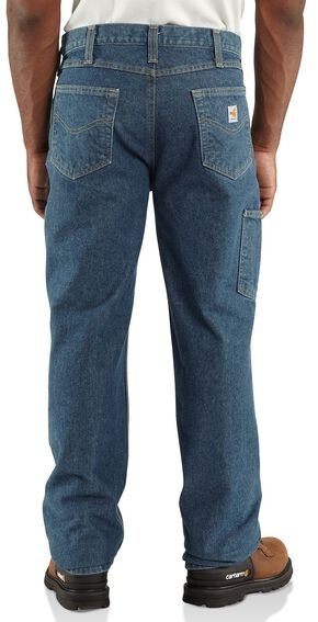 Carhartt Flame Resistant Relaxed Fit Utility Double-Front Jeans - Big & Tall, Midstone, hi-res