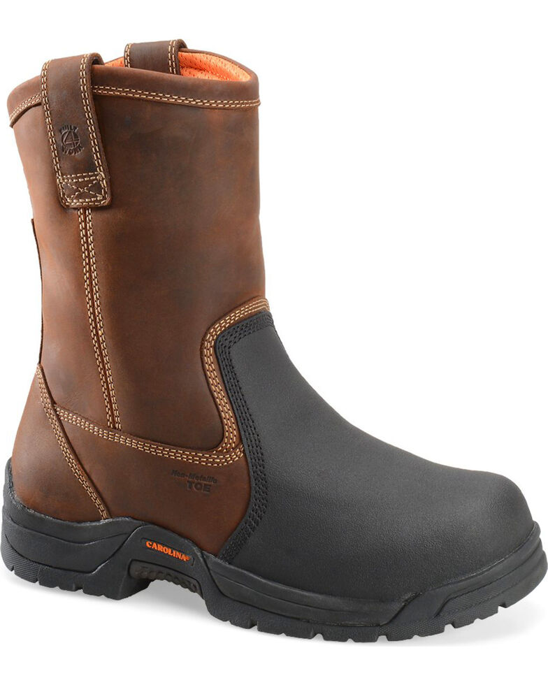 Carolina Men's Dark Brown Ranch Wellington Internal MetGuard Boots - Composite Toe, Dark Brown, hi-res