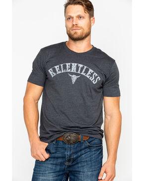 Ariat Men's Longhorn Relentless Short Sleeve T-Shirt, Charcoal, hi-res