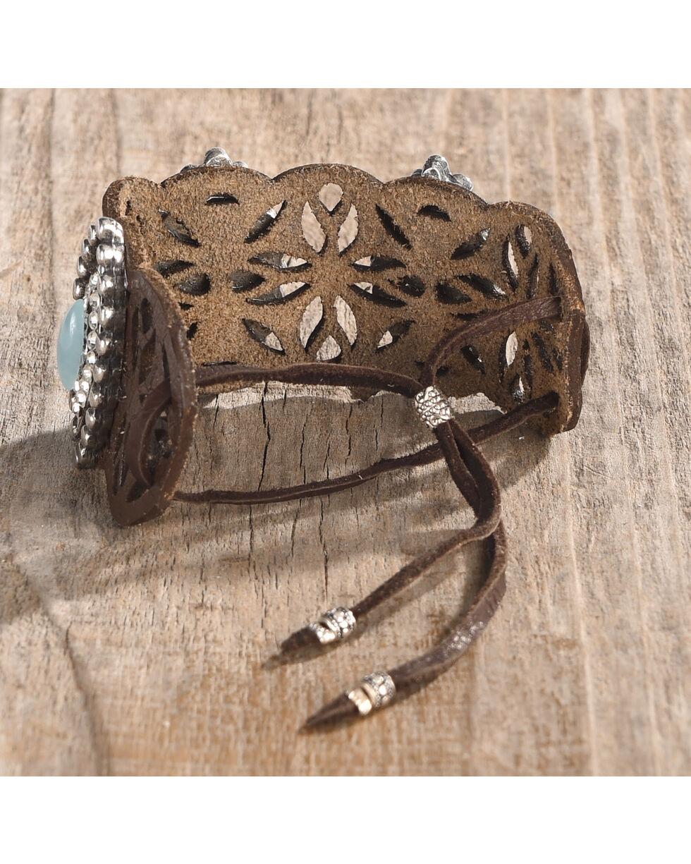 Cowgirl Confetti Women's Trail of Tides Cuff, Brown, hi-res