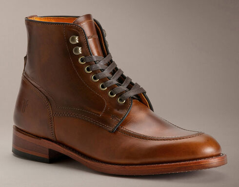 Frye Men's Walter Lace-up Boots - Round Toe, Whiskey, hi-res