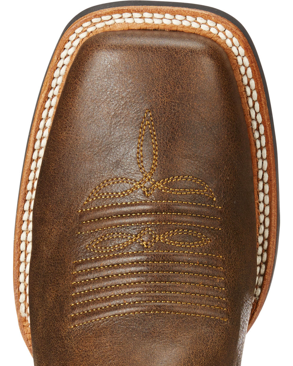 Ariat Women's Brown Catalyst Prime Chuckwagon Boots - Square Toe , Brown, hi-res