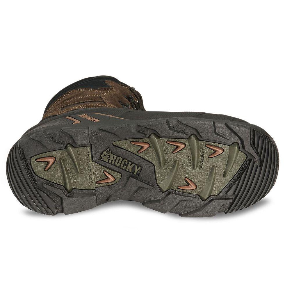 "Rocky 9"" Blizzard Stalker Work Boots - Steel Toe, Brown, hi-res"