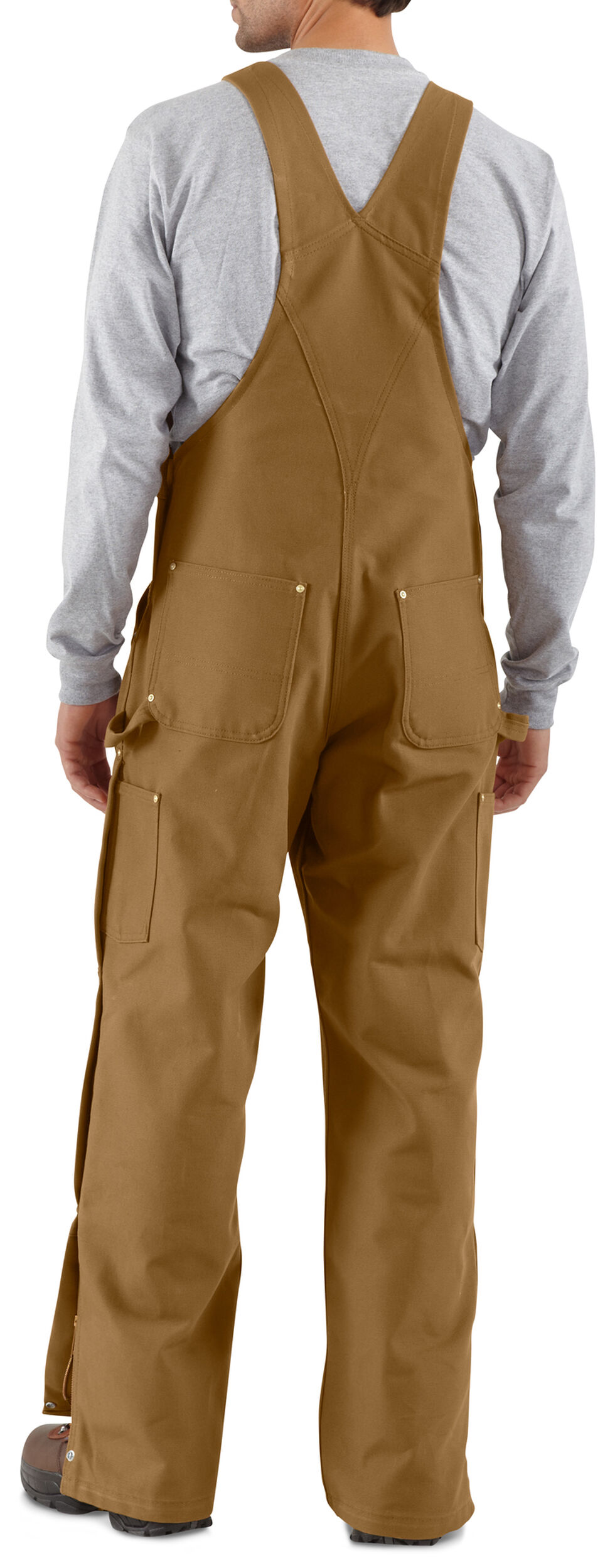 Carhartt Zip-to-Thigh Work Overalls, Carhartt Brown, hi-res