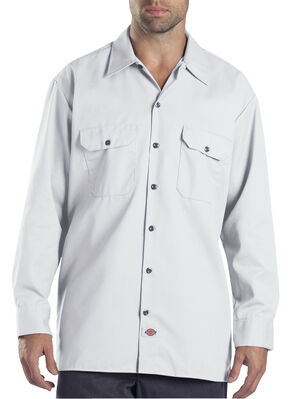 Dickies Twill Work Shirt, White, hi-res